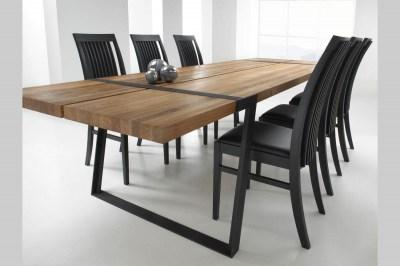 Jedálenský stôl Annie 290 cm / biela-prírodná