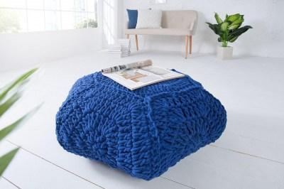 Dizajnová taburetka Lilly II / tmavo modrá