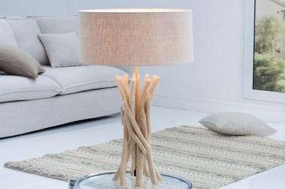Dizajnová stolná lampa Casablanca / prírodná