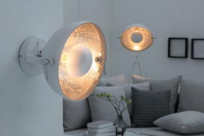 Nástenná lampa STAGE bielo strieborná