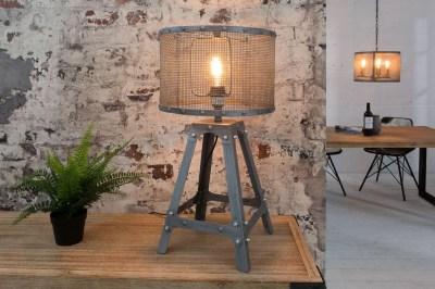 Dizajnová stolná lampa Metall  60 cm / sivá