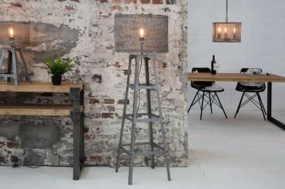 Dizajnová stojanová lampa Metall 155 cm / sivá