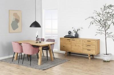 Jedálenský stôl Nayana 160 cm brúseny divoký dub