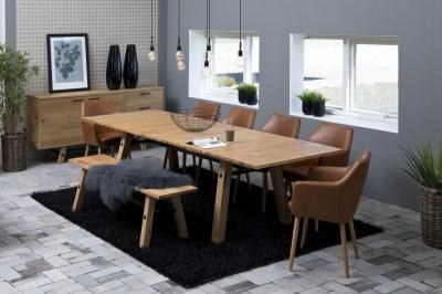Jedálenský stôl rozkladací Nayana 210/300 cm brúseny divoký dub