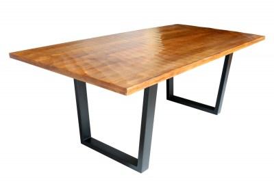 Jedálenský stôl Shayla 200 cm hnedý - mango