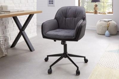 Kancelárska stolička Joe sivá antracitová