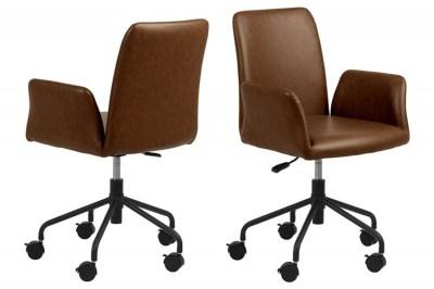 Kancelárska stolička Allison hnedá koženka