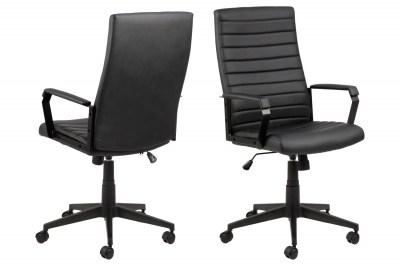 Kancelárska stolička Triston čierna koženka