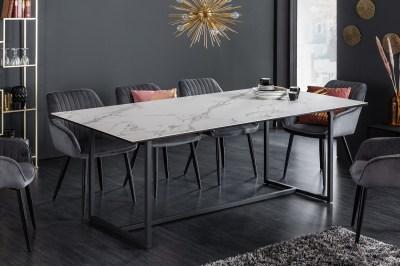 Keramický jedálenský stôl Sloane 200 cm biely mramor