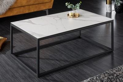 Keramický konferenčný stolík Sloane 100 cm biely mramor