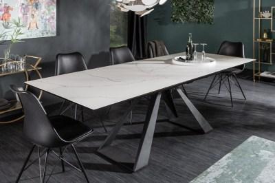 Keramický jedálenský stôl Kody 180-230 cm vzor mramor