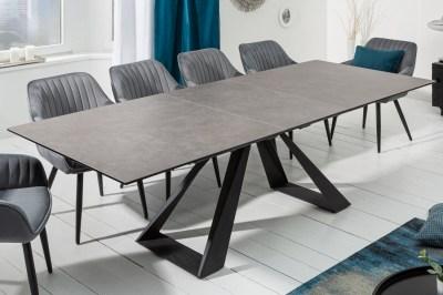Keramický jedálenský stôl Kody 180 - 230 cm antracit