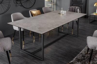Keramický jedálenský stôl Kody 200 cm betónový vzor