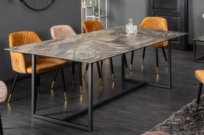 Keramický jedálenský stôl Kody 200 cm mramor taupe