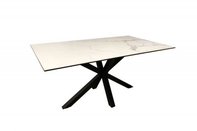 Keramický jedálenský stôl Neele 160 cm biely