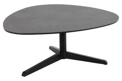 Keramický konferenčný stolík Ahab 84 cm čierny