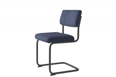 Konzolová stolička Javon modrý zamat