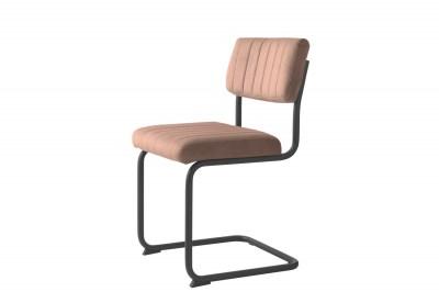 Konzolová stolička Javon ružový zamat