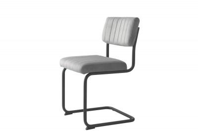 Konzolová stolička Javon sivý zamat