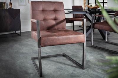Konzolová stolička Cowboy vintage hnedá