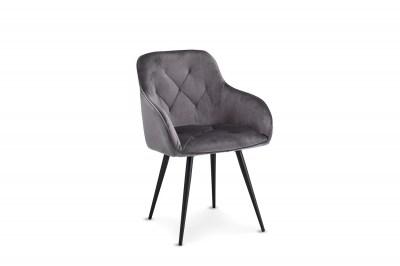 Luxusná jedálenská stolička Aegis, šedá