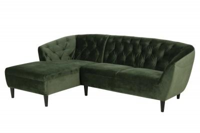 Luxusná sedacia súprava Nyree 222 cm ľavá, lesno zelená