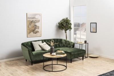Luxusná sedacia súprava Nyree 222 cm pravá, lesno zelená