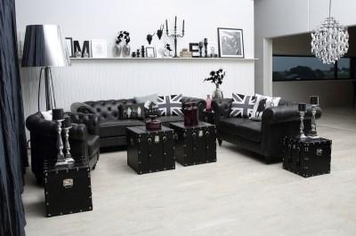 Luxusná sedačka Ninetta čierna