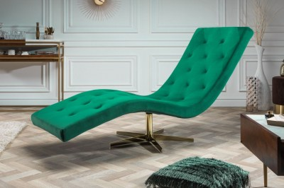 Luxusné relaxačné kreslo Rest smaragdovozelený zamat