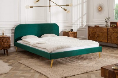 Manželská posteľ Lena 140 x 200 cm - smaragdový zamat