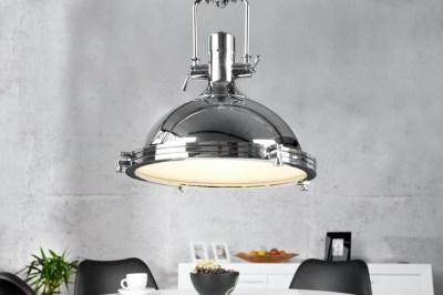 Dizajnová závesná lampa Commercial 45cm chrómová