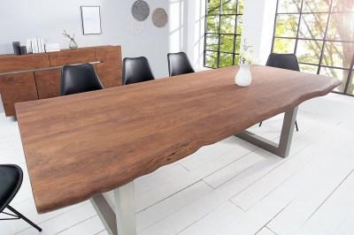 Luxusný jedálenský stôl z masívu Massive 200 cm / akácia