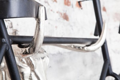 Nástenná dekorácia Bicycle 47 cm / strieborná