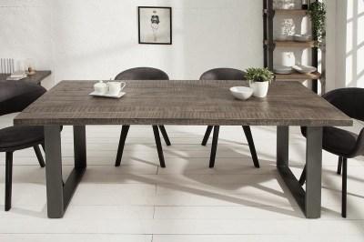 Luxusný jedálenský stôl Thunder 160 cm sivé mango