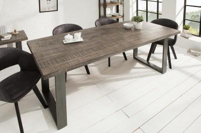 Luxusný jedálenský stôl Thunder 180 cm sivé mango