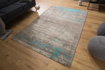 Dizajnový koberec Rowan 240x160 sivobéžový modrý