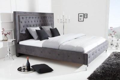 Dizajnová manželská posteľ Spectacular sivá 200 x 180cm