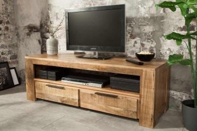 Dizajnový TV stolík Thunder 130 cm mango