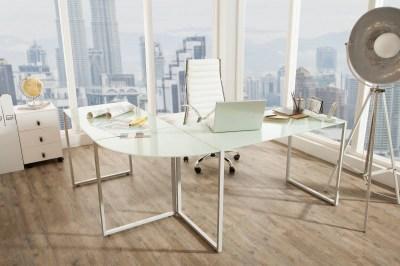Rohový písací stôl Atelier biely