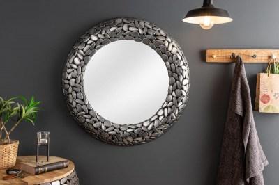 Dizajnové zrkadlo Mauricio, 82 cm, strieborné