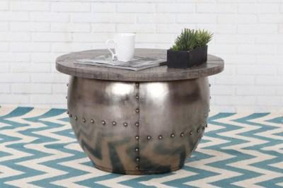 Dizajnový konferenčný stolík Maurice, sivý