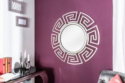 Nástenné zrkadlo Leonel, strieborné, 85 cm