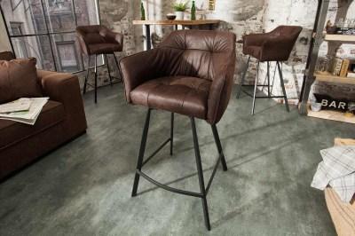 Dizajnová barová stolička Giuliana, antik hnedá