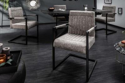 Jedálenská stolička Maddison vintage sivá