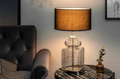 Dizajnová stolová lampa Bruce, 68 cm, strieborná