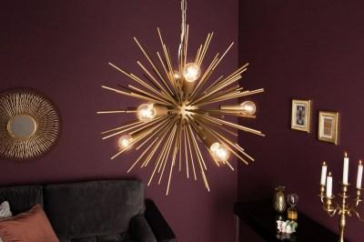 Dizajnové závesné svietidlo Abram, 50 cm, zlaté