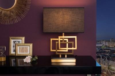 Dizajnová stolová lampa June, 56 cm, zlatá