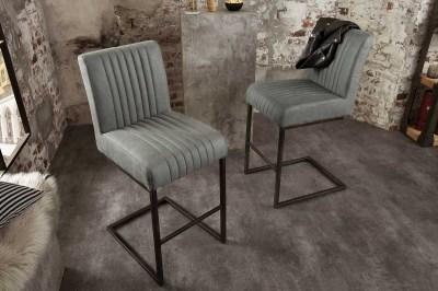 Dizajnová barová stolička Boss, antik sivá
