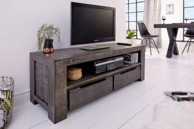 Dizajnový TV stolík Thunder 130 cm, sivé mango