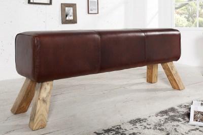 Dizajnová lavica Horse 100 cm pravá koža
